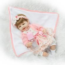 42cm Silicone Reborn Baby Dolls of NPK Doll Brand In Top Quality Sweater Beautiful Simulation Reborn Dolls Babies for Gift(China)