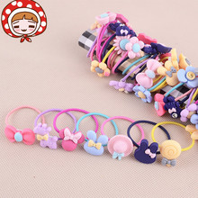 1Pcs Colorful Plastic Elastics  children's  Cartoon candy color rubber band Girl Hair accessories headdress kids  birthday Gift