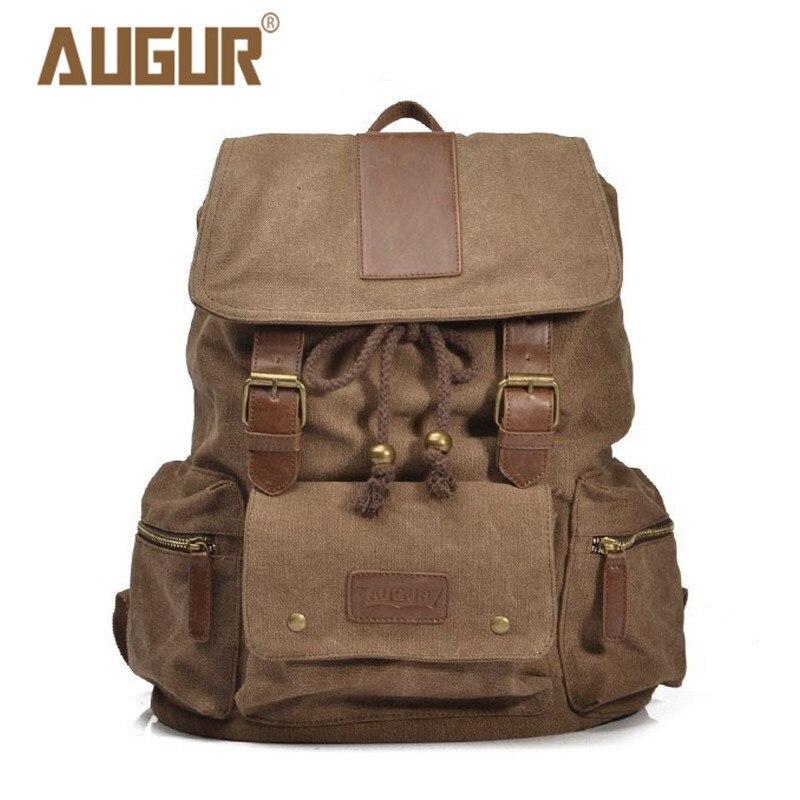 2018 NEW AUGUR Travel Bags For Men/Women Vintage Military Style Backpacks Casual School Bag  Men Backpack Canvas Large Backpack<br>