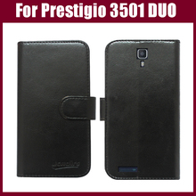 New Fashion Flip Leather Case Cover For Prestigio MultiPhone 3501 DUO Smart phone Case With Card Holder Top quality In Stock.(China)