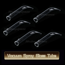 5 PCS Curve Ventouse Parts Glass Tube Replacement For Use With Vacuum Spray Facial Mchine