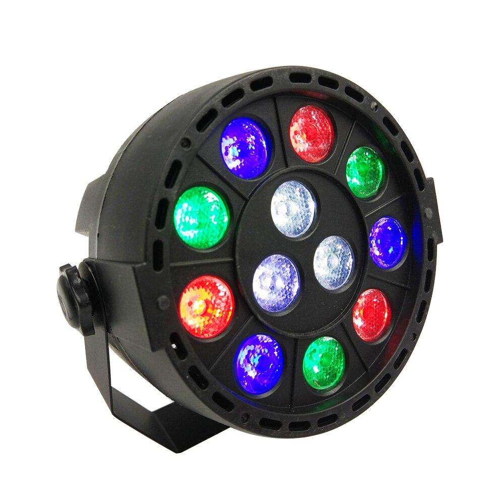 12W Sound Activate Stage Lights with 12 LED Par RGBW Light for Club, Dj Show, Family Parties , Ballroom , Disco, KTV, Pub, Bar, <br>