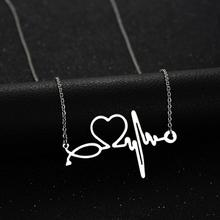 Buy Medical Stethoscope Stainless Steel Heartbeat Necklace Jewelry Love Heart Choker Women Nurse Doctor Collier Gift Y3 for $2.75 in AliExpress store