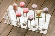 11 holes High Transparancy Acrylic Cake Pop Display Stand Holder Lollipop U shaped Display