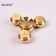 Buy MINI Fidget Spinner Hand Spinner EDC Vingertop Gyro Anti Stress speelgoed Lente Speelgoed Hand Spinner Rood Koper Metal Tri Fidg for $7.95 in AliExpress store
