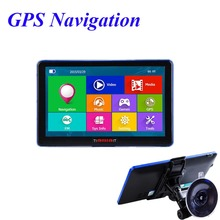 Viecar 7 inch Car GPS Navigation Capacitive screen FM Built in 8GB/256M WinCE 6.0 Map Truck vehicle gps Navigator(China)
