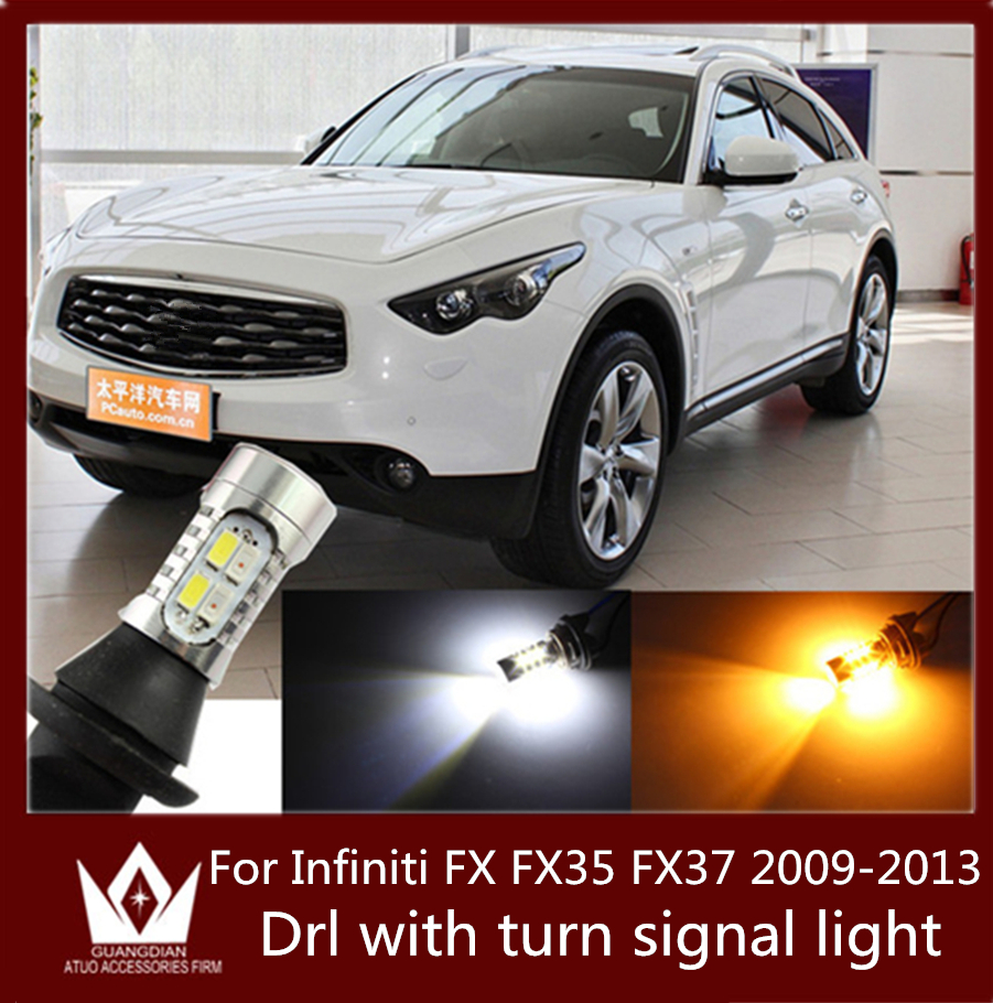Guang Dian car led light daytime running light &amp; Front Turn Signals light 20W T20 7440 WY21W For Infiniti 2009-2013 FX FX35 FX37<br><br>Aliexpress