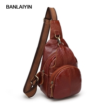 Nice Fashion Genuine Leather Chest Bag Men Crossbody Bags Male New Brand Shoulder Bag Zipper Travel Hand Bag
