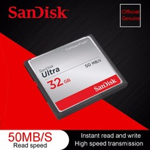 100% Original Genuine SanDisk Fit Ultra Memory Card CF Compact Flash Card up to 50 MB/s 32GB 32G Support official verification(China)