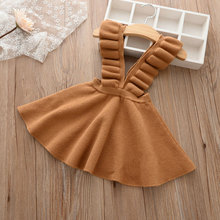 2018 Spring Fall BabyGirls Strap Dress Children Clothing Beautiful Vestidos Woolen Knit Sweater Kids Pure White Shirt Robe Fille