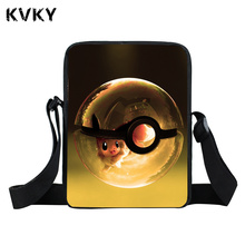 Pokemon Charmander Mini Messenger Bag Kyogre Pidgeotto Girls Boys Batman School Bags Kids Pikachu Shoulder Bag For Snacks Lunch