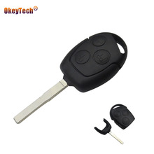 OkeyTech 3 Buttons For Ford Focus Transit Fob Key Cover Covers Case Uncut Blade Remote Key Shell for Ford Mondeo Festiva Fusion
