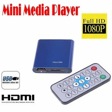 by dhl or ems 20 pieces Mini Media Player Mini 1080P HDMI SD/USB HD Media Player MKV/RM/RMVB free shipping Wholesale