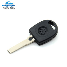 New arrive Blank Shell For Volkswagen (for VW) B5 Passat Transponder Key (HU66) + with logo Free Shipping