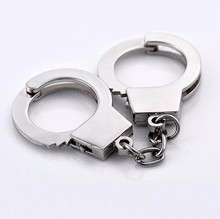 New Design model Handcuffs Key chain Fashion Hot Metal bag charm Car Key Ring For Men women key Gift Wholesale 17277(China)