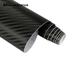 MALUOKASA 127cmx30cm 3D Auto Carbon Fiber Vinyl Film Carbon Car Wrap Sheet Roll Film Paper Motorcycle Car Stickers Decal Sticker(China)