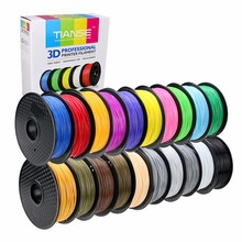 3D Filament different colors PLA 1.75mm 400M long PLA printing consumables material for 3D printer 3D pen ABS PLA plastic Rubber(China)