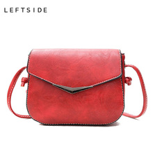 LEFTSIDE Woman Small Travel Purses And Handbag Organizer Hand Bags Fashion Red Crossbody Bags For Phone And Keys Women Popular(China)