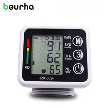 Beurha Household Wrist Type Microcomputer Intelligent Type Electronic Blood Pressure Monitor Black Health Care Household Health(China)