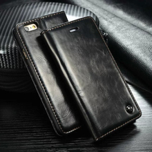 Luxury Genuine Leather Magnetic Auto Flip Card Holder Case For iPhone 7 6 6s Plus Original Mobile Phone Cases Bag Accessories(China)
