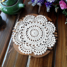 European fashion high end luxury 20 pic/lot cotton crochet lace doilies for home decor wedding gift 3D flower coaster placemat