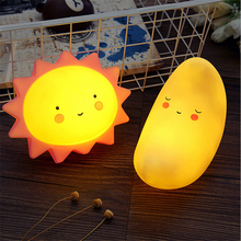 New Novelty Sun Moon Star Cloud Shape Night Light Silica gel Night Lamp for Bedroom Nursery Mini Lamps Kids Gift Home Decor(China)