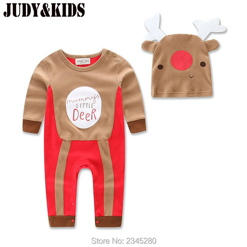 christmas deer newborn romper one-pieces baby kids clothing set  jumpsuit toddler autumn long sleeves infant body carter<br><br>Aliexpress