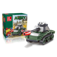 29pcs DIY Birthday Gift for Boy Building Blocks Military Land War Tank Blocks Toy Kids Early Educational Toys for Children K2501(China)