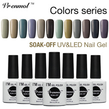 Vrenmol 1pcs Color Gel Nail Polish 8ml UV Gel Manicure Varnish Long-lasting Soak-off LED/UV Lamp Curing Gel Lacquer
