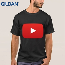 Youtube Logo Black With You Tube Luxury Clothes Top Thai Quality Man 8 Colors Tee T Shirt Vintage Ali T Shirts(China)
