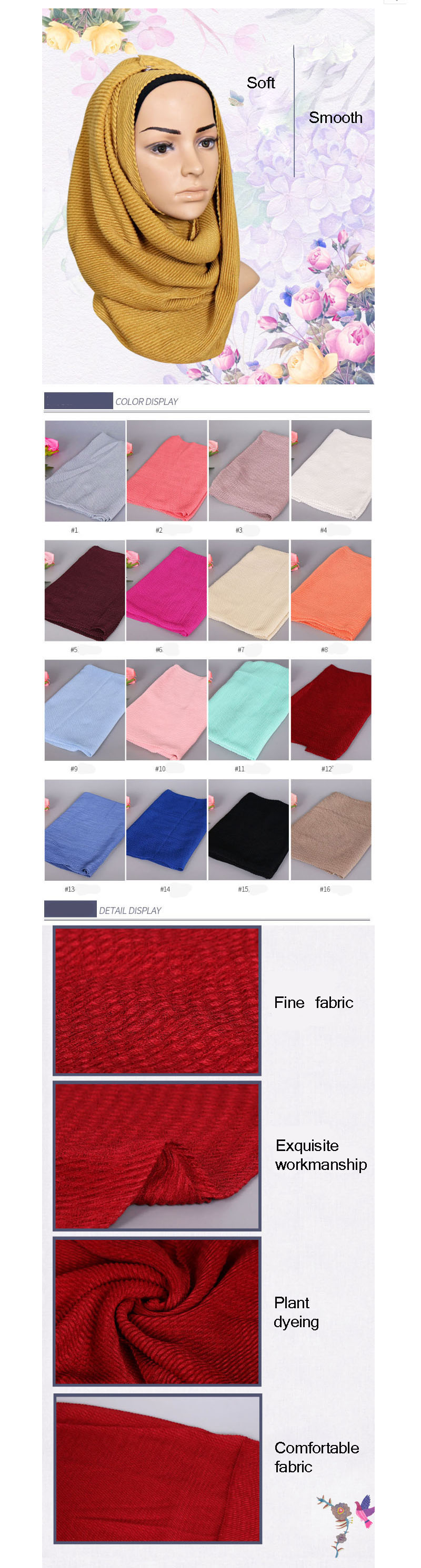 KL227 Taffeta Fashion Head Scarf Turbante Colorful Jersey Shawls Solid Inner Hijab Turban Muslim 180-80CM 9