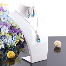 2014 New and Hot sale White color 20*13.5cm Mannequin Necklace Jewelry Pendant Display Stand Holder Show Decorate Retail