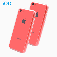 IQD For iPhone 5C Case Cover,Clear Transparent Perfect design charge dust plug Scratch-Resistant Acrylic and tpu mixed material
