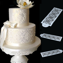 1PC Damask Lace Cake Border Decor Mould Side Paisley Embossed Lace Sugarcraft Mold