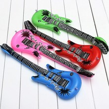 Funny Colorful PVC Inflatable Guitar Toys Rock Roll Cheering Air Balloons Inflatable Toys Kids Birthday Party Favors Supplies