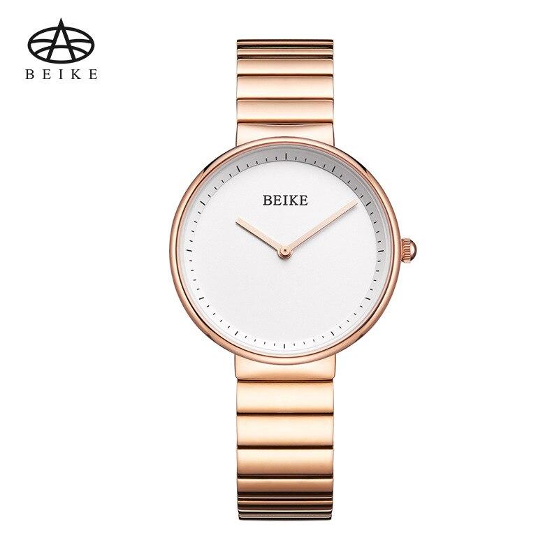 BEIKE New Fashion Brand Women Rose Gold Watches Stainless Steel Luxury Female Quartz Clock Ladies Wristwatch Classic Women Clock<br>
