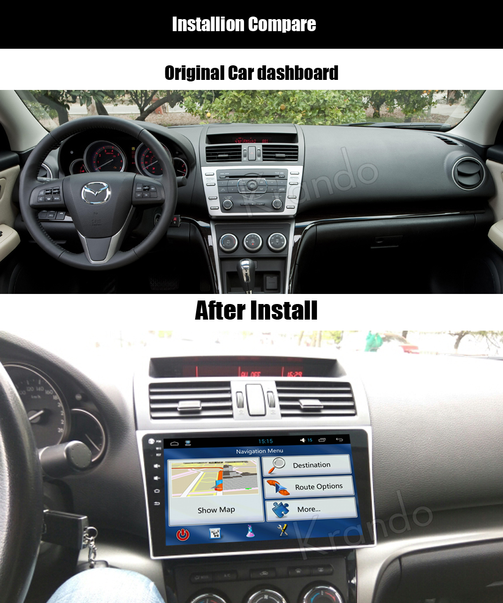 krando mazda 6 android car radio gps navigation multimedia system