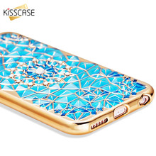 KISSCASE For iPhone 7 6 6s Case Luxury Bling Crystal Diamond Case For iPhone 7 7 Plus 6 6s Plus Ultra Slim Soft TPU Back Cover