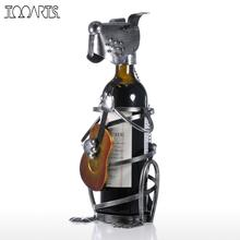 Tooarts Puppy Wine Rack with Music Band Modern Animal Figurine Wine Holders Creative Wine Stand Gift Home Decoration Accessories(China)