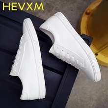 HEVXM 2017 Spring And Summer New White Shoes Women Fashion Flat Leather Canvas Shoes Female White Board Shoes Casual Shoes W(China)