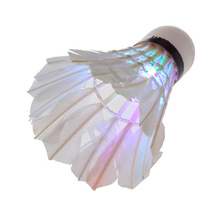 Top sales loe cost Dark Night LED Badminton Shuttlecock Birdies Lighting 7 color red/green/blue change