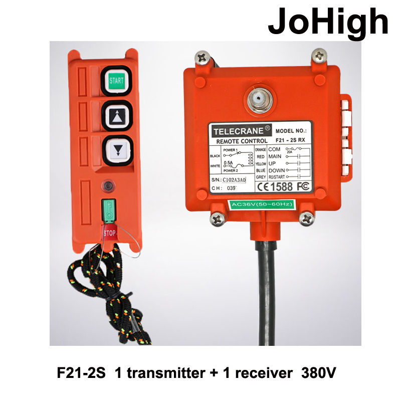 High Quality Wireless Industrial Remote Controller Electric Hoist Remote Control Winding Engine Sand-blast Equipment Used F21-2S<br>