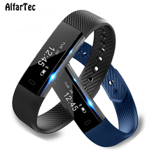 Buy Sport Heart Rate Monitor Smart Wristband Bluetooth Fitness Tracker Smart Bracelet Waterproof IOS Android Pk Mi Band 2 ID115 for $17.81 in AliExpress store