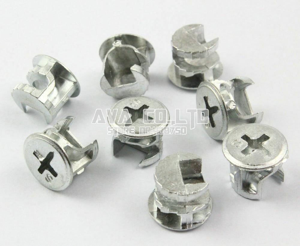 50 Pieces 15mm Diameter Furniture Cam Lock Screw Fittings