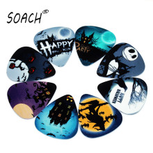 SOACH 10PCS 0.71mm high quality guitar picks two side pick Halloween picks earrings DIY Mix picks guitar