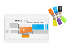 Hot sale  Class 10 \class 6Micro TF Card 4g 8g 16g 32gb 64gb 128gb TF Memory Card+reader+adapter super mini Transflash T4