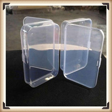 2Pcs Practical Transparent Fine Storage Box Collection Container Case with Lid