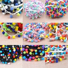 9 design 15mm Pompon Ball Trims Ribbon DIY Sewing Accessory Lace decoration 2 yard/lot DIY CP1542