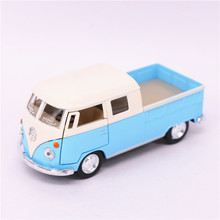 1:34 Kinsmart VW Bus Truck Toy, Alloy & ABS 1963 Bus Car Model, Pull Back Cars For Boys, Toys For Children, Brinquedos Van
