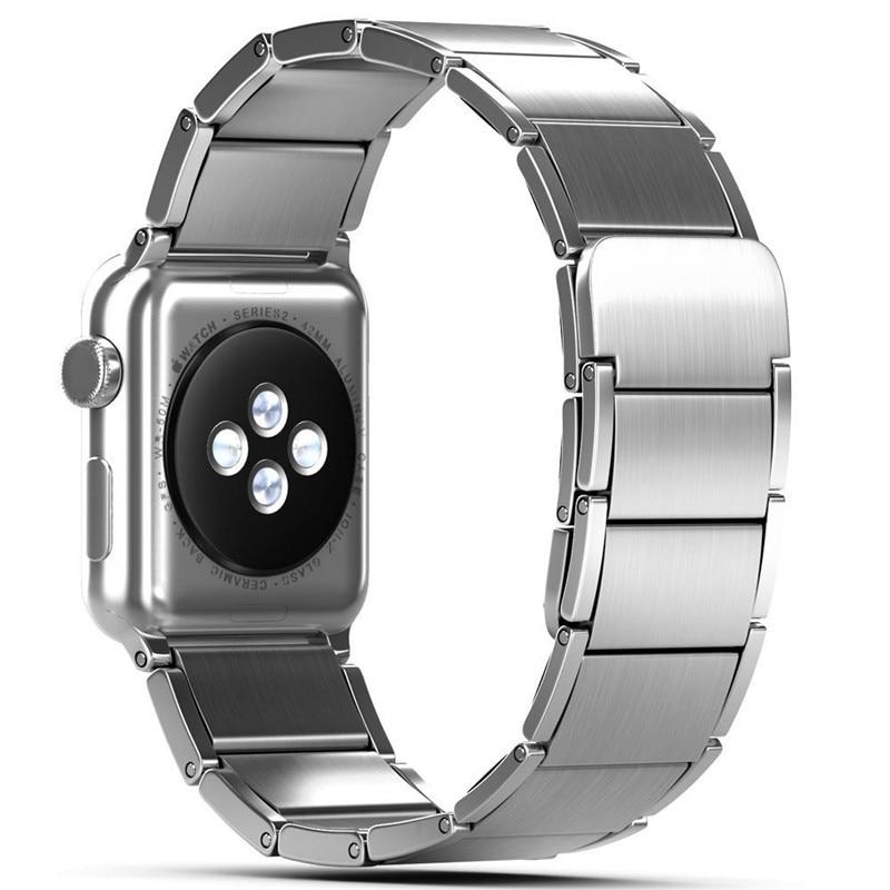 Luxury stainless steel watch band for apple series 1 2 3 watch strap 38-42 mm reloj hombre marca de lujo heren horlogewatcha bracelet (7)